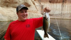 Fishing at Lake Powell Large mouth