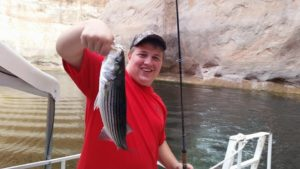 Fishing at Lake Powell Striper