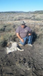Dad and his 2016 coyote with his 17hmr.